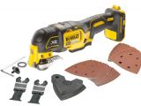 A Dewalt DCS355N Brushless XR 18V Oscillating Multi-Tool - Bare Unit + Accessories